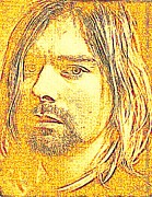 Kurt Cobain Digital Art - Portrait Of Kurt Cobain by Terry Collett