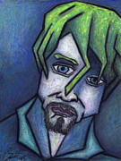 People Pastels Metal Prints - Portrait of Kurt Metal Print by Kamil Swiatek