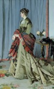 Floral Paintings - Portrait of Madame Louis Joachim Gaudibert by Claude Monet