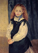 Choker Painting Prints - Portrait of Mademoiselle Legrand Print by Pierre Auguste Renoir