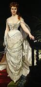 Portrait Of Mademoiselle X Print by Charles Emile Auguste Carolus Duran