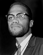 Black Muslims Posters - Portrait Of Malcolm X. 1964-65 Poster by Everett