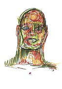 Drawings  - Portrait of Man by Carol Rashawnna Williams