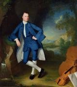 Breeches Posters - Portrait of Man Poster by George Romney
