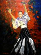 Filipina Prints - Portrait of Maricar Dacuno Print by Frederick Aguinaldo