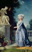 Grey Framed Prints - Portrait of Marie-Louise Victoire de France Framed Print by Adelaide Labille-Guiard