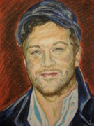 Singer Pastels Originals - Portrait of Matt Cardle by Agnes Varnagy