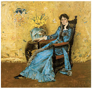 Fine American Art Posters - Portrait of Miss Dora Wheeler Poster by William Merritt Chase