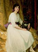 Portrait Paintings - Portrait of Miss Dorothy Dicksee  by Sir Frank Dicksee
