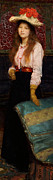 Stood Paintings - Portrait of Miss MacWirter by Sir Lawrence Alma-Tadema