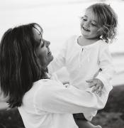 Candid Family Portraits Posters - Portrait Of Mother And Daughter Poster by Michelle Quance