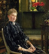 Striped Dress Art - Portrait of Mrs Ralph Sneyd by Sir Lawrence Alma-Tadema