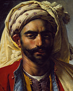 Anne Paintings - Portrait of Mustapha by Anne Louis Girodet de Roucy-Trioson