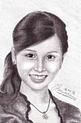 Natasha Drawings - Portrait of Natasha Benita by Joned Rahadian
