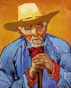 Blue Shirt Posters - Portrait of Patience Escalier Poster by Vincent van Gogh