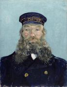 Van Photo Framed Prints - Portrait of Postman Roulin Framed Print by Vincent van Gogh