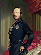 Standing Painting Framed Prints - Portrait of Prince Albert Framed Print by Franz Xavier