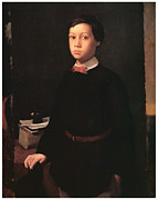 Portrait Of A Young Boy Framed Prints - Portrait of Rene De Gas Framed Print by Edgar Degas