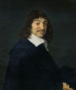 Philosopher Framed Prints - Portrait of Rene Descartes Framed Print by Frans Hals