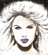 Taylor Swift Art - Portrait of Taylor Swift- glow by William Lee Harvey
