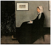 Whistler Painting Posters - Portrait of the Artists Mother Poster by James Abbott McNeill Whistler