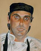 Uniform Pastels Prints - Portrait of the Head chef Print by Melanie Bourne