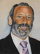 Spain Pastels - Portrait of the Mayor of Vera Almeria by Melanie Bourne