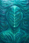 Green Monster Paintings - Portrait of the Real Green Man by Kazuya Akimoto