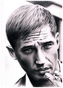 Icon  Drawings - Portrait of Tom Hardy by Martin Velebil