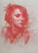 Composition Pastels - Portrait of Tuti by Theo Felizzola