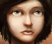 Girl Digital Art - Portrait of Vela by Ethan Harris