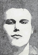 Pointillism Art - Portrait of Ville Valo by Alice Rotaru