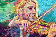 Violinist Digital Art - Portrait of Violinist David Garrett by Cynthia Sorensen