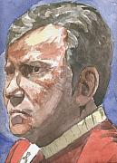 Captain Kirk Originals - Portrait of William Shatner by Jeremiah Cook