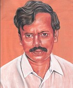 Venkat Hyderabad Paintings - Portrait by Venkat Meruvu