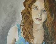 Portraits Paintings - Portrait by Veronica Coulston