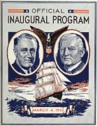 Inaugurations Framed Prints - Portraits Of Franklin Roosevelt 1882 Framed Print by Everett