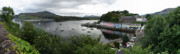 Sailboats In Water Prints - Portree Pano Print by Mike Mann