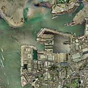 Portsmouth Prints - Portsmouth Docks, Uk, Aerial Image Print by Getmapping Plc