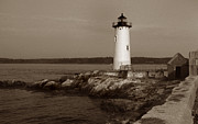 Portsmouth Nh Posters - Portsmouth Harbor Lighthouse Poster by Skip Willits