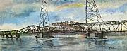 Portsmouth Nh Skyline Print by Michel      Croteau