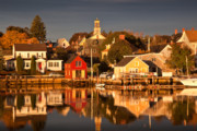 New England Architecture Prints - Portsmouth Reflections Print by Susan Cole Kelly