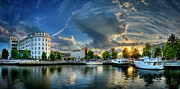 Portsmouth Prints - Portsmouth Sunset Print by Williams-Cairns Photography LLC