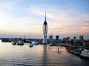 Mast Art - Portsmouth waterfront by Jane Rix