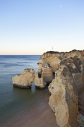 Water Over Rock Photos - Portugal, View Of Armacao De Pera by Westend61