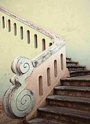 Stairways Framed Prints - Portugese Stairs Framed Print by Linda  Parker