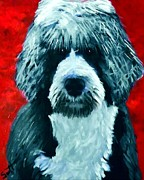 Obama Paintings - Portugese Water Dog by Char Swift