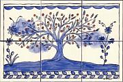One Ceramics - Portuguese Folk Art-Style Tree Of Life by Dy Witt