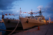 Warships Photos - Portuguese frigates by Gaspar Avila