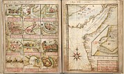 Maps Prints - Portuguese Maps Showing Views Of Port Print by Everett